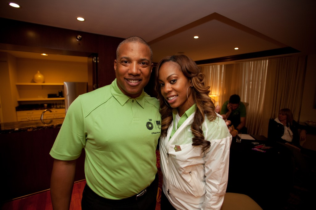 Olympian Sanya Richards Ross and Adversity Overcomer John Register