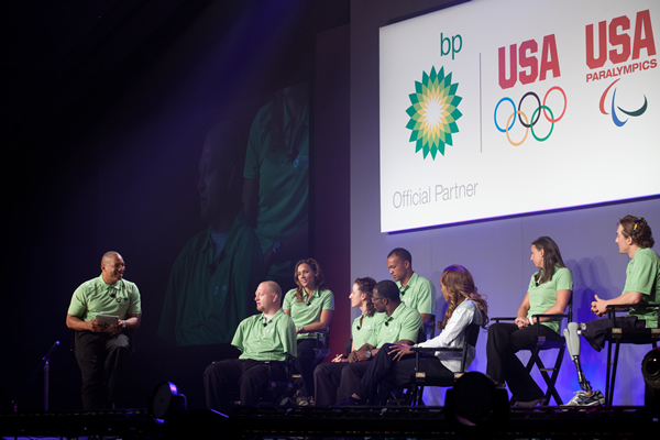 John leads panel dicussion with Olympians and Paralympians.