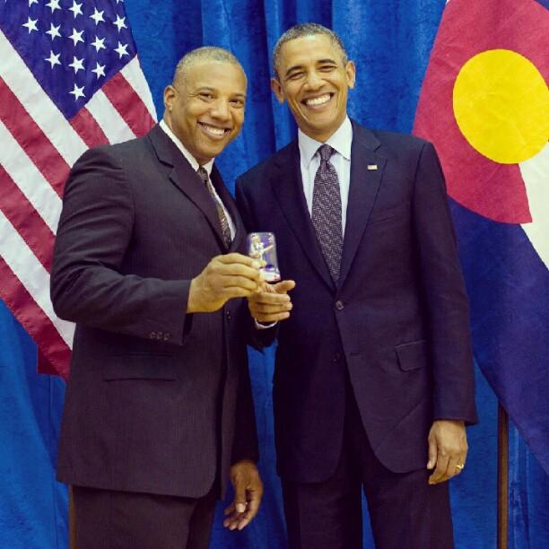 John and President Obama
