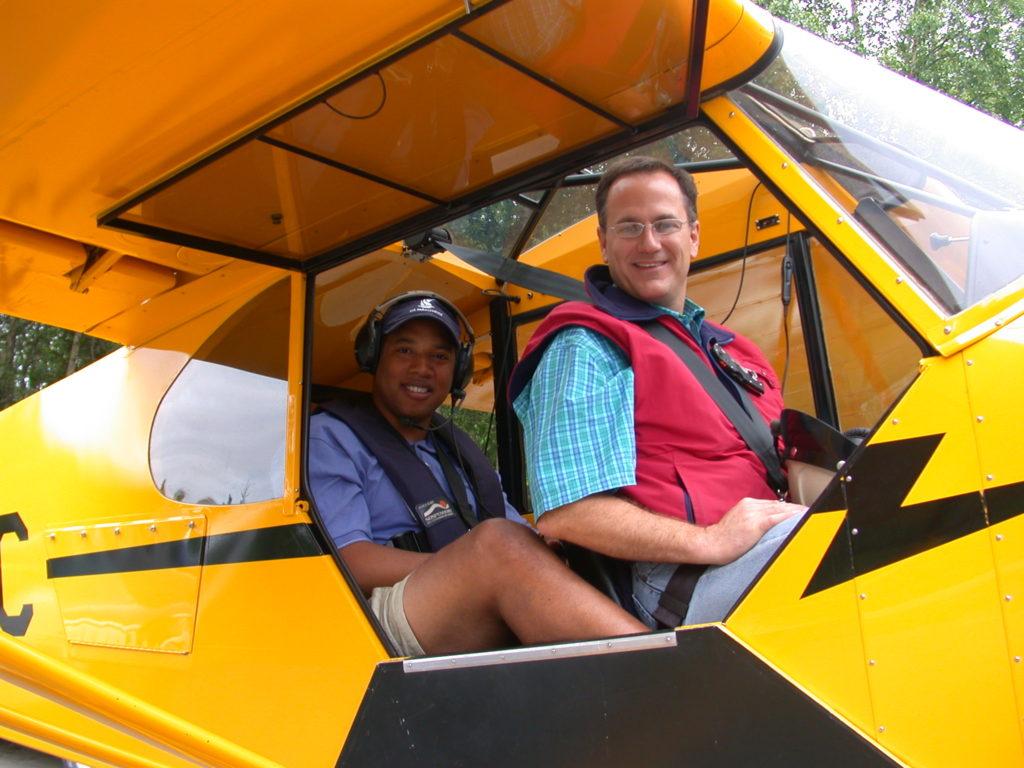 John pilots a plane in Alaska