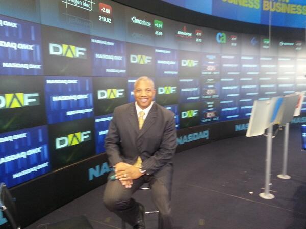 John on Set at NASDAQ in NEW YORK
